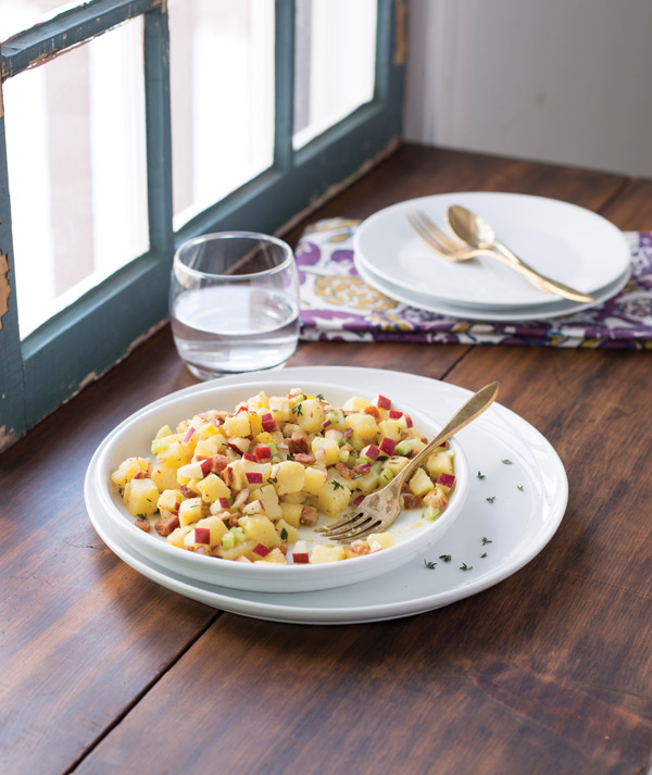 City Style and Living gibbs smith potato salad with apple and bacon
