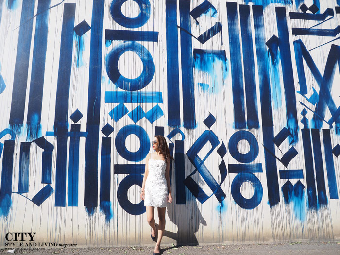 City style and living magazine Editors Notebook style fashion blogger iron eye retna white dress armani exchange
