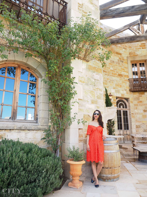 City Style and Living Magazine sunstone winery banana republic dress