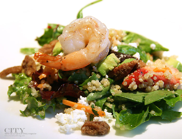 city style and living seafood salad