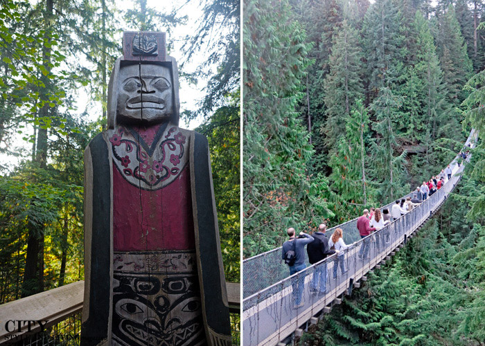 capilano bridge and totem