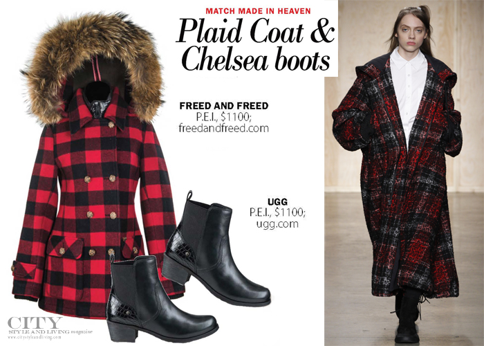 City Style and Living Magazine plaid coat chelsea boots fall 2016