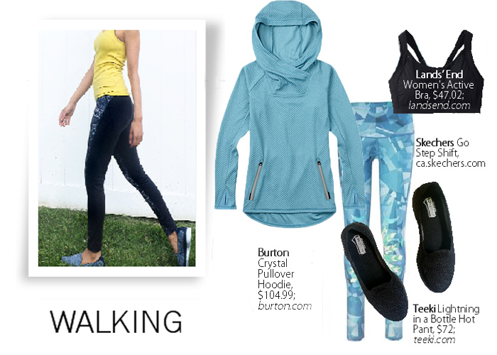 City Style and Living Magazine walking fitness tips and workout gear