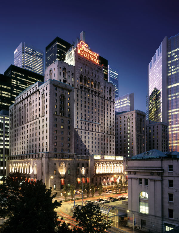 City Style and Living Magazine fairmont royal york exterior night