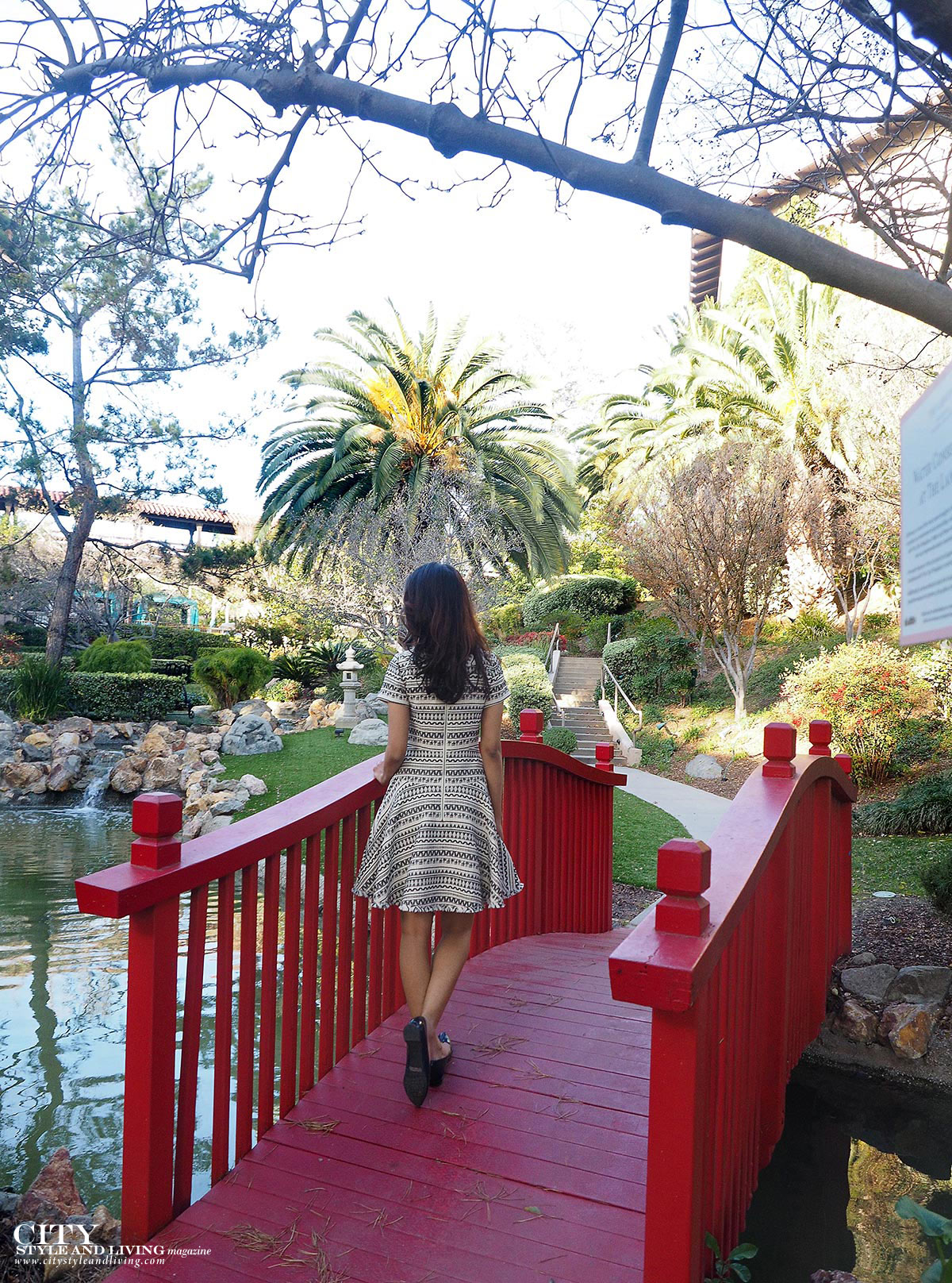 City style and living magazine japanese garden bridge langham pasadena