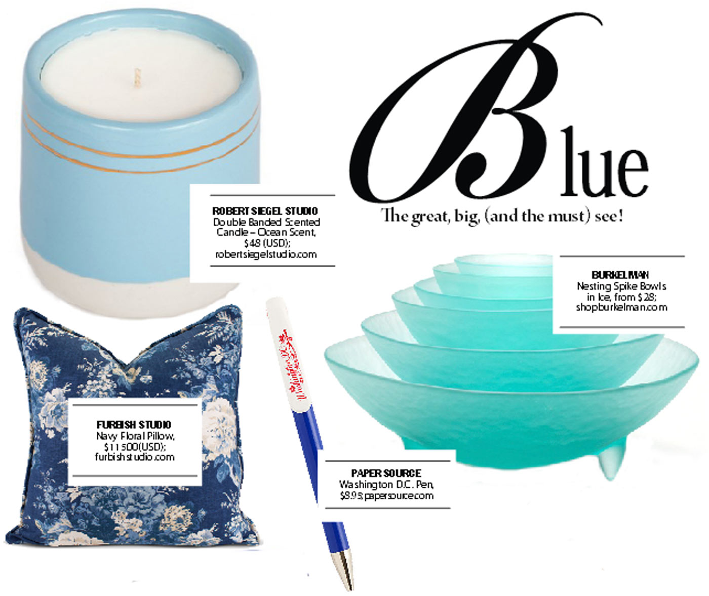 city style and living magazine gift guide blue 2