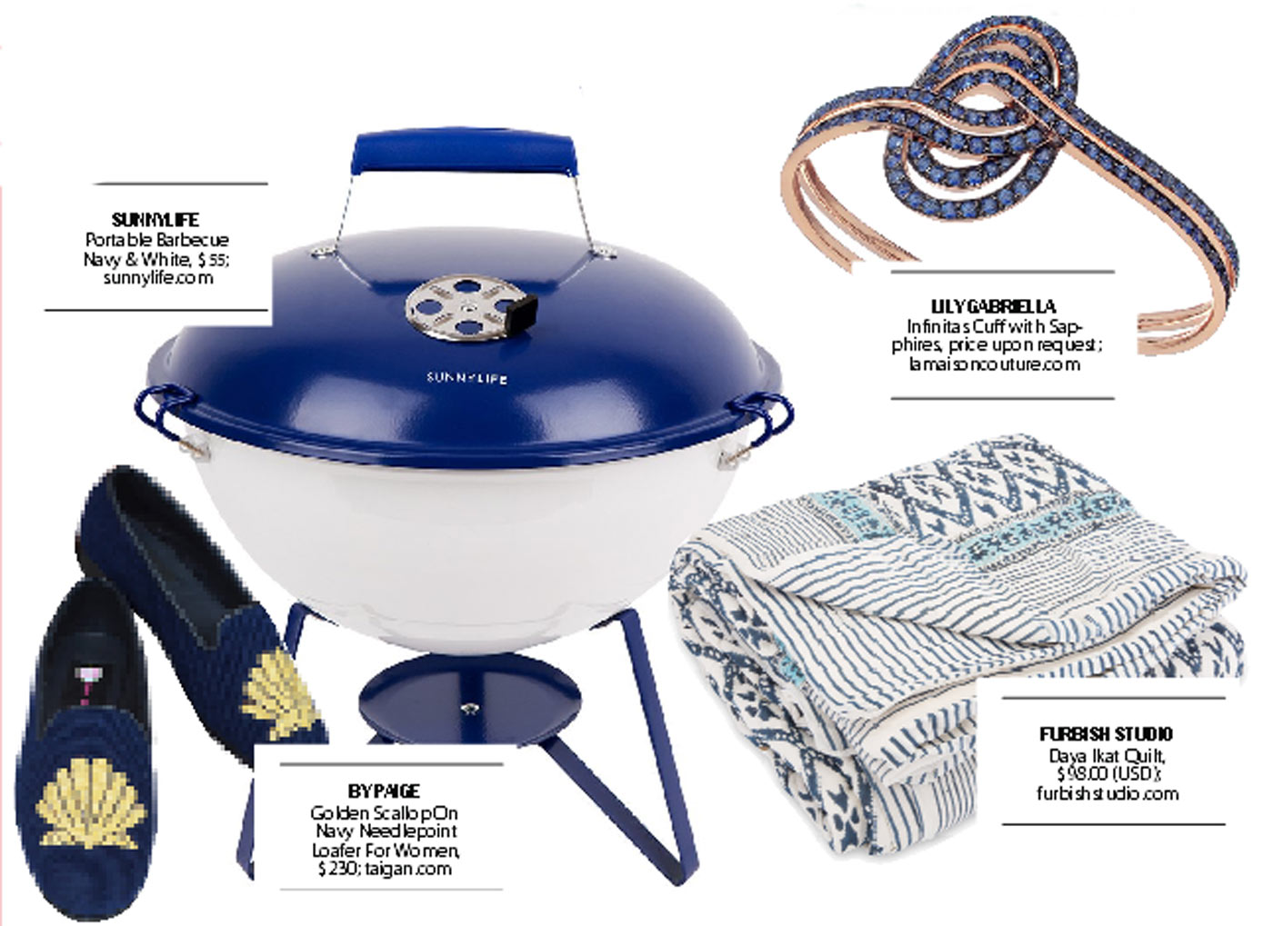 city style and living magazine gift guide blue