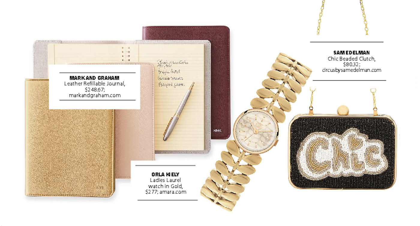 city style and living magazine gift guide gold 2
