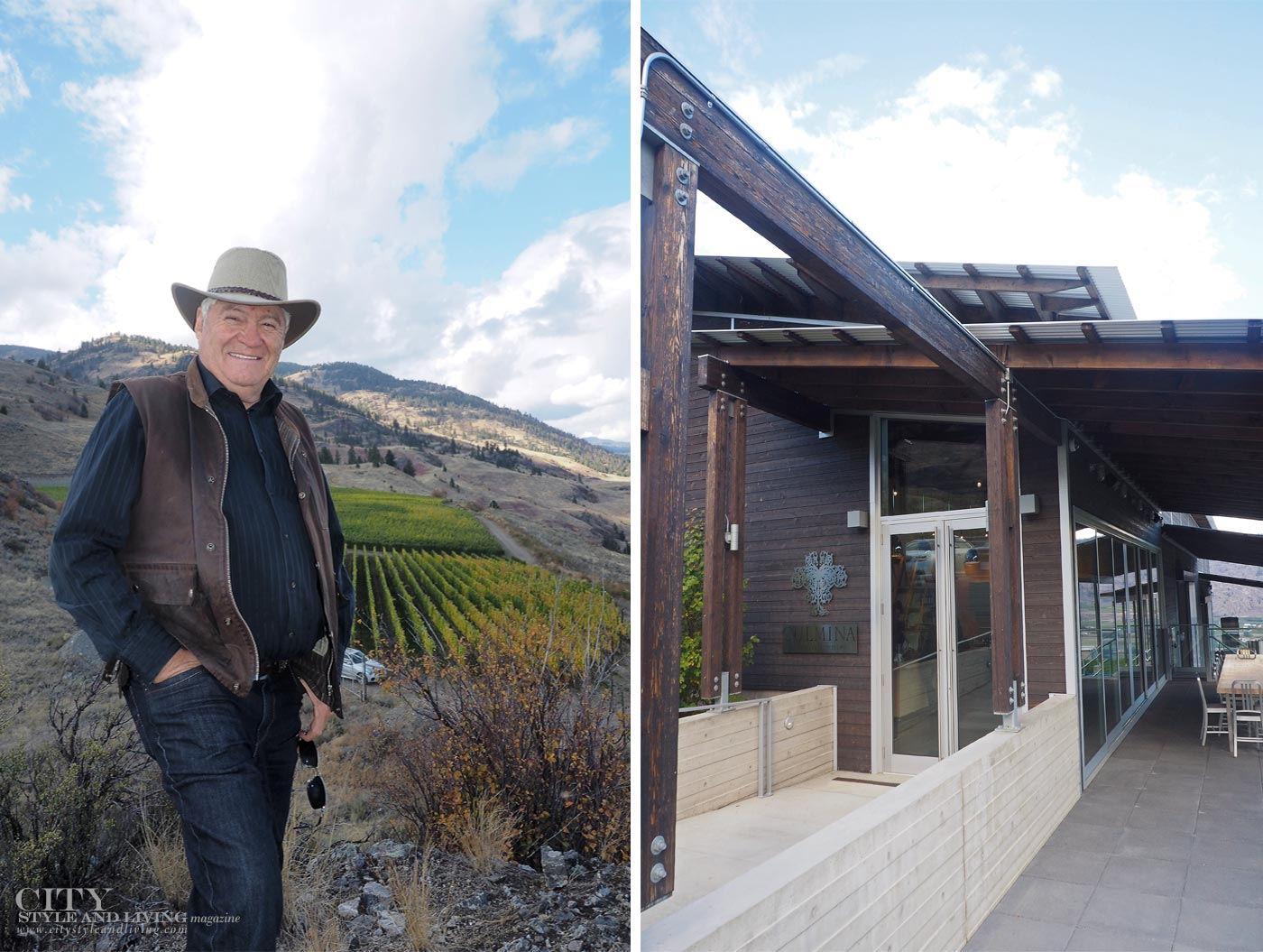 City Style and Living Magazine Culmina family estate winery owner Donald Triggs in The Okanagan