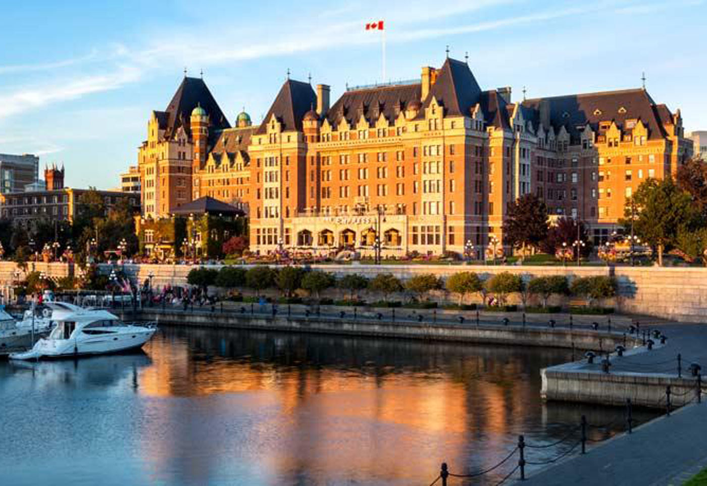 Fairmont Empress Exterior sunset in City Style and Living Magazine.