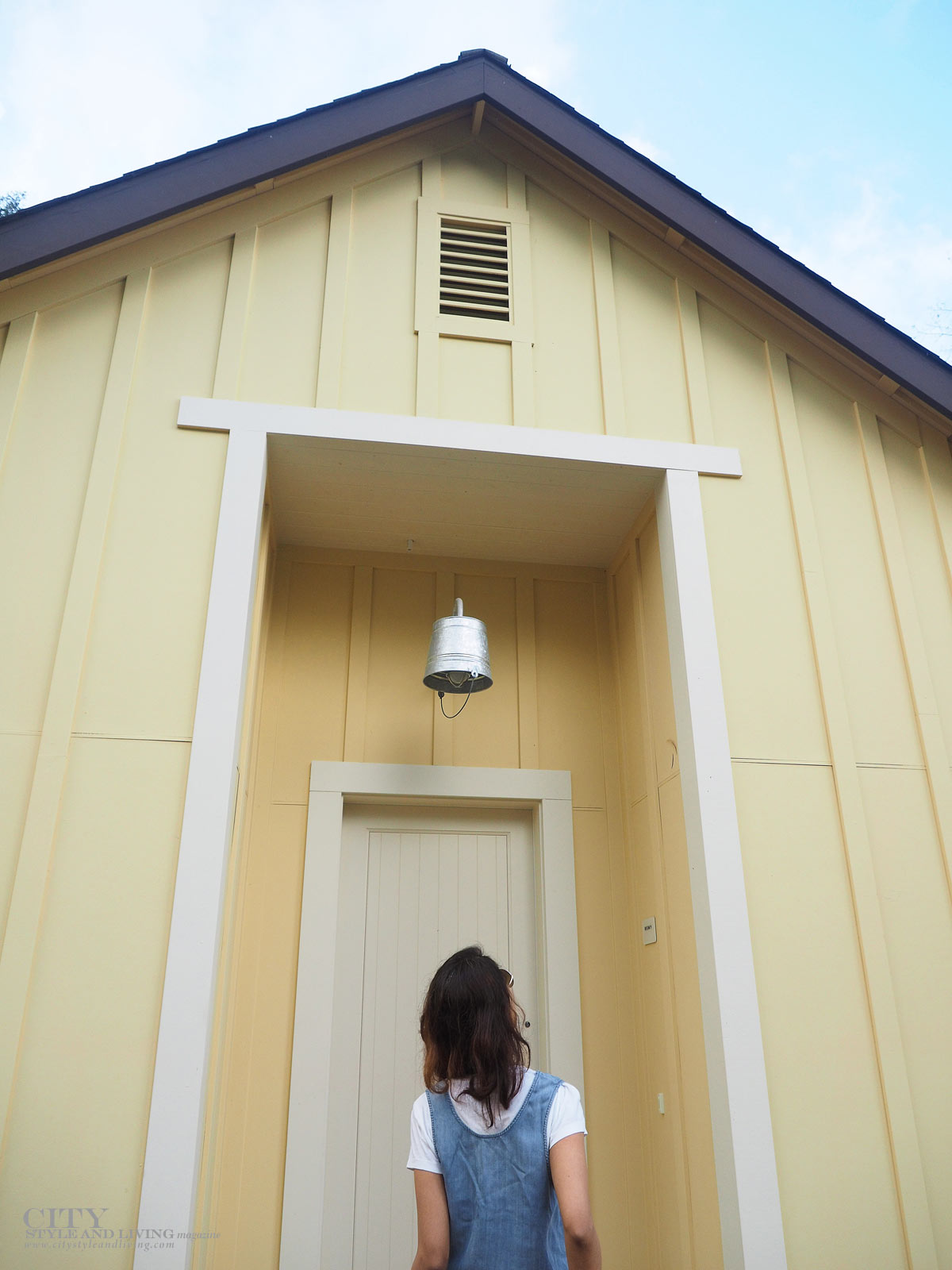 City Style and Living The Editors Notebook style blogger jean dress over a white tshirt at farmhouse inn  in sonoma