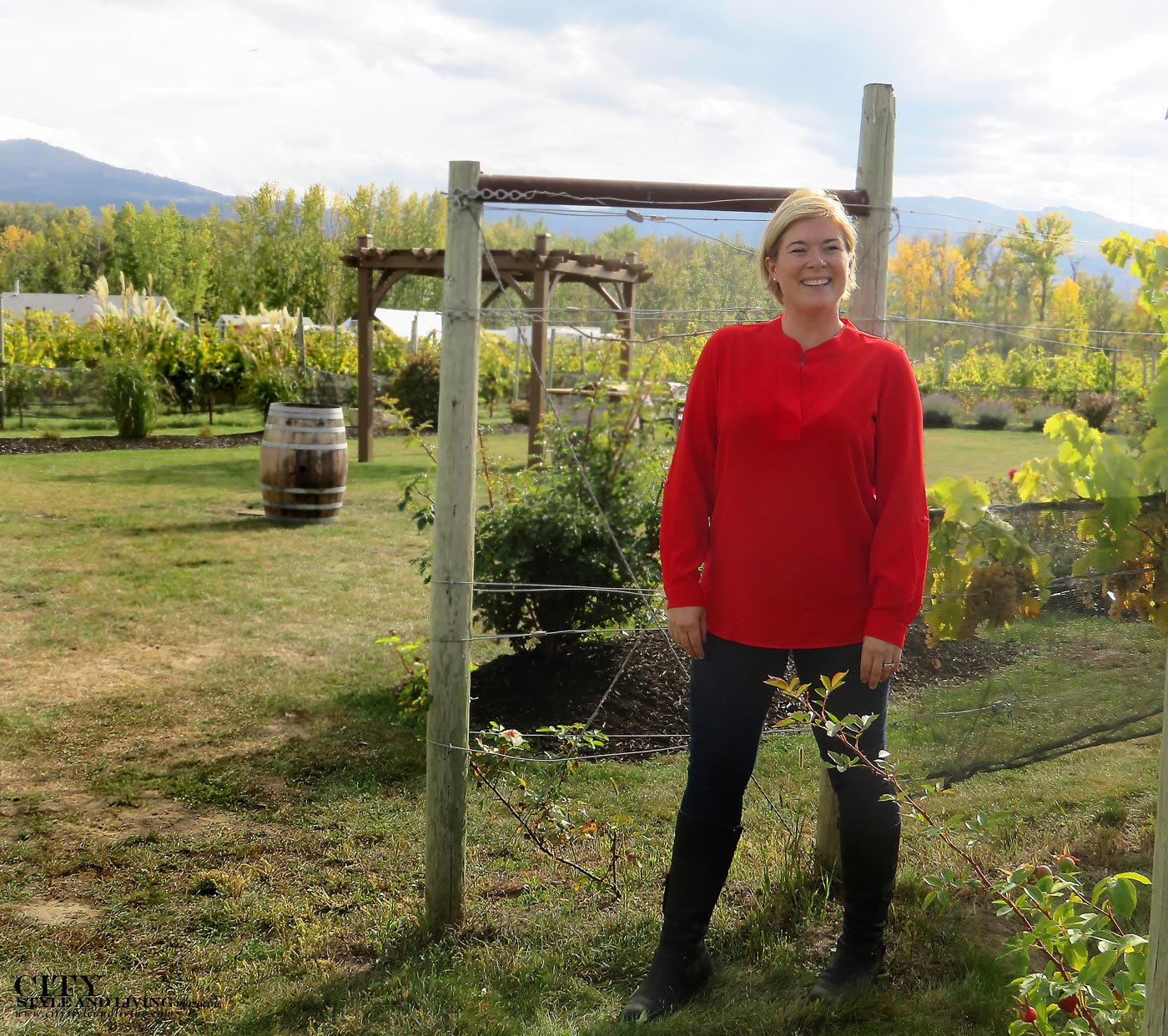 Ann Sperling of Sperling Vineryards in City Style and Living Magazine.