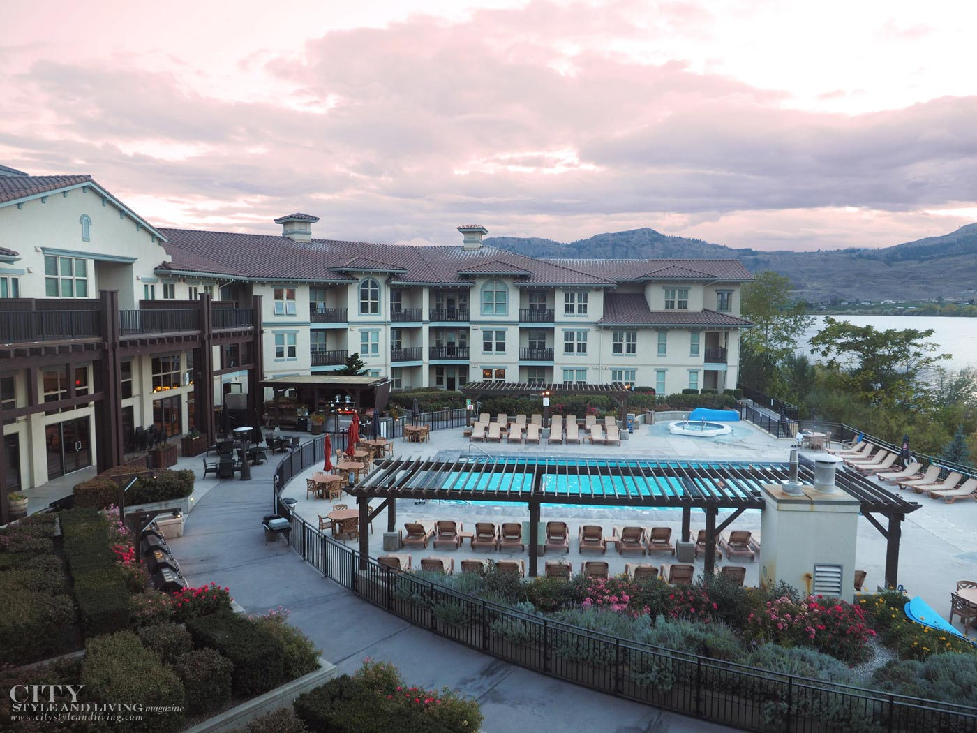 Walnut Beach Hotel Osoyoos at sunset City Style and Living Magazine