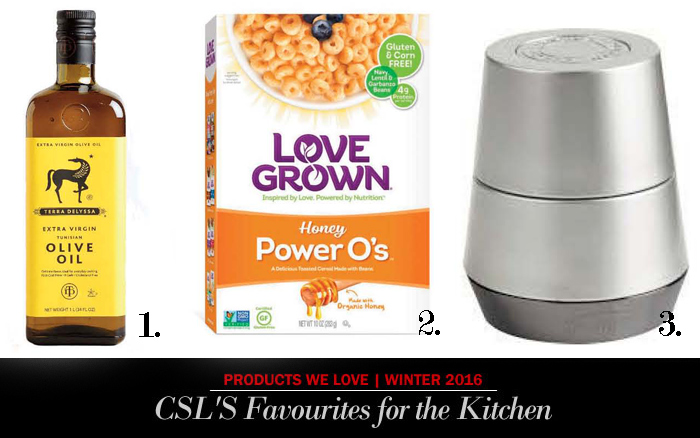 Terra delysia, love grown, trudeau kitchen products Gourmet products for the kitchen in City Style and Living Magazine.