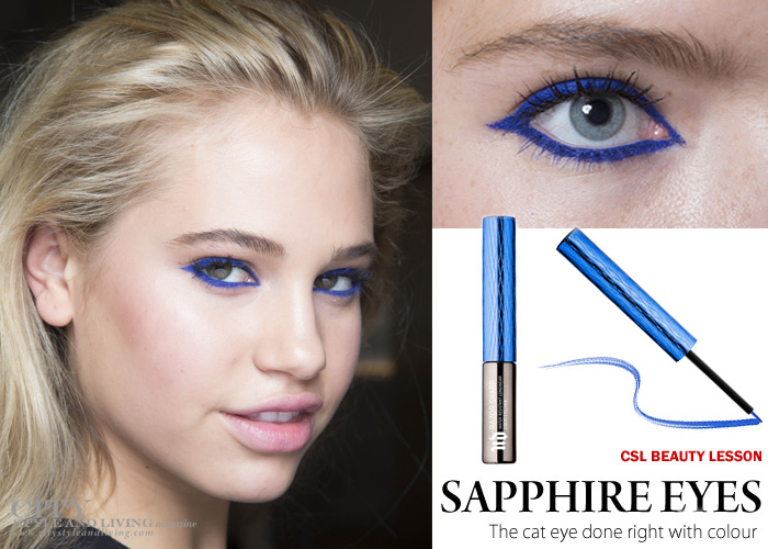 get the makeup look sapphire eyes in City Style and Living Magazine