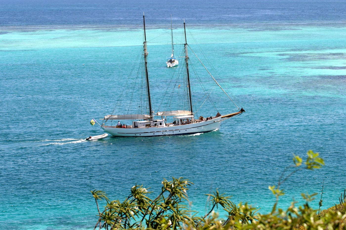 yatching the coral-luscious Tobago Cays in St. Vincent and The Grenadines in City Style and Living magazine article on 3 adventures south of the equator