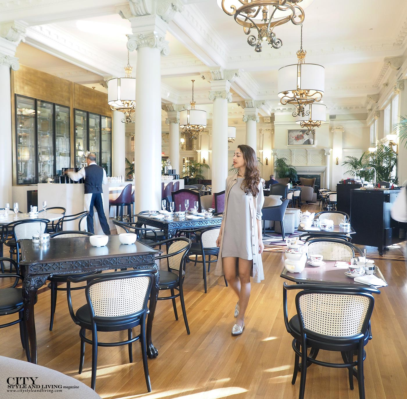 The Editors Notebook style blogger at the Fairmont Empress Victoria for afternoon tea