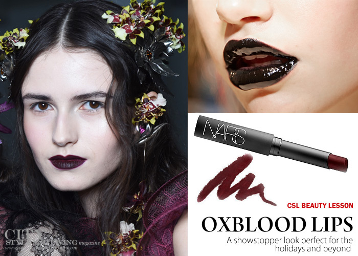 City Style and Living Magazine how to wear Oxblood lips winter 2016/17
