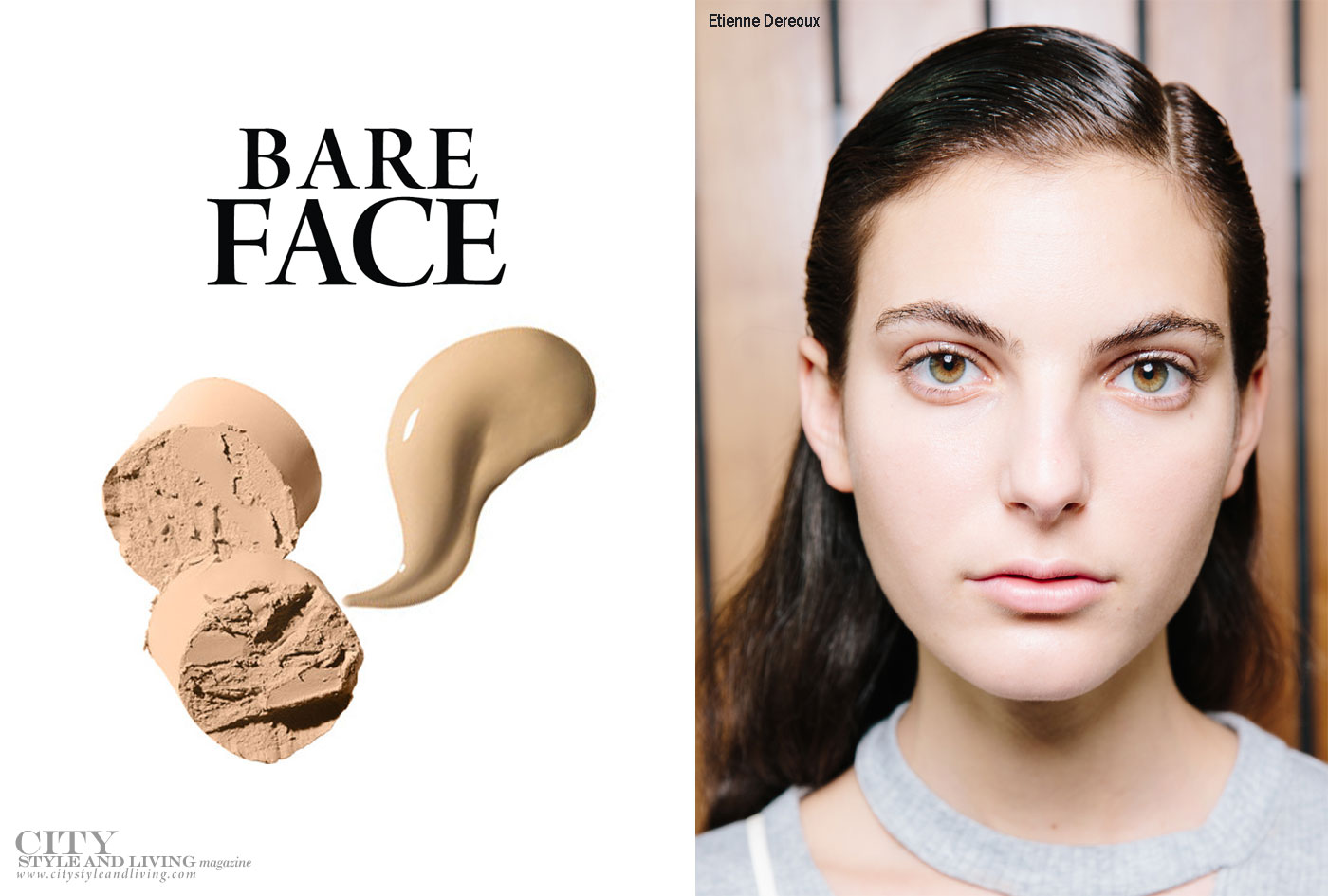 City Style and Living Magazine Bare Face makeup Spring 2017