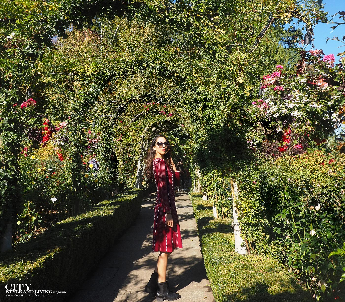 City style and living magazine Editors Notebook style fashion blogger Butchart Gardens Rose Gardens