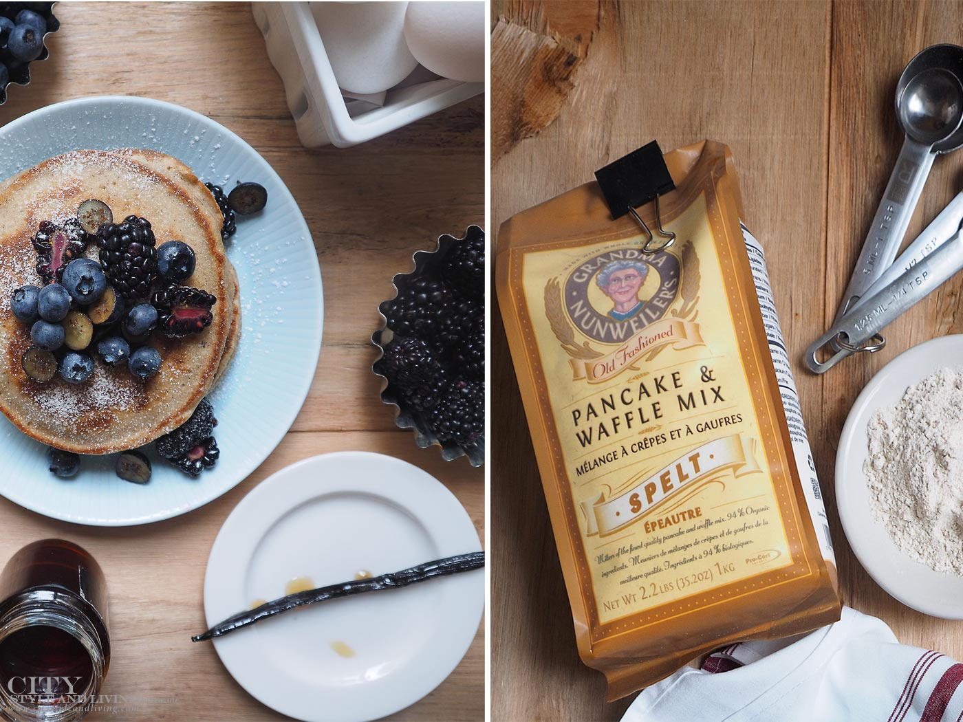 City Style and Living Magazine Nunweilers Pancake Mix and 1769 Distillery