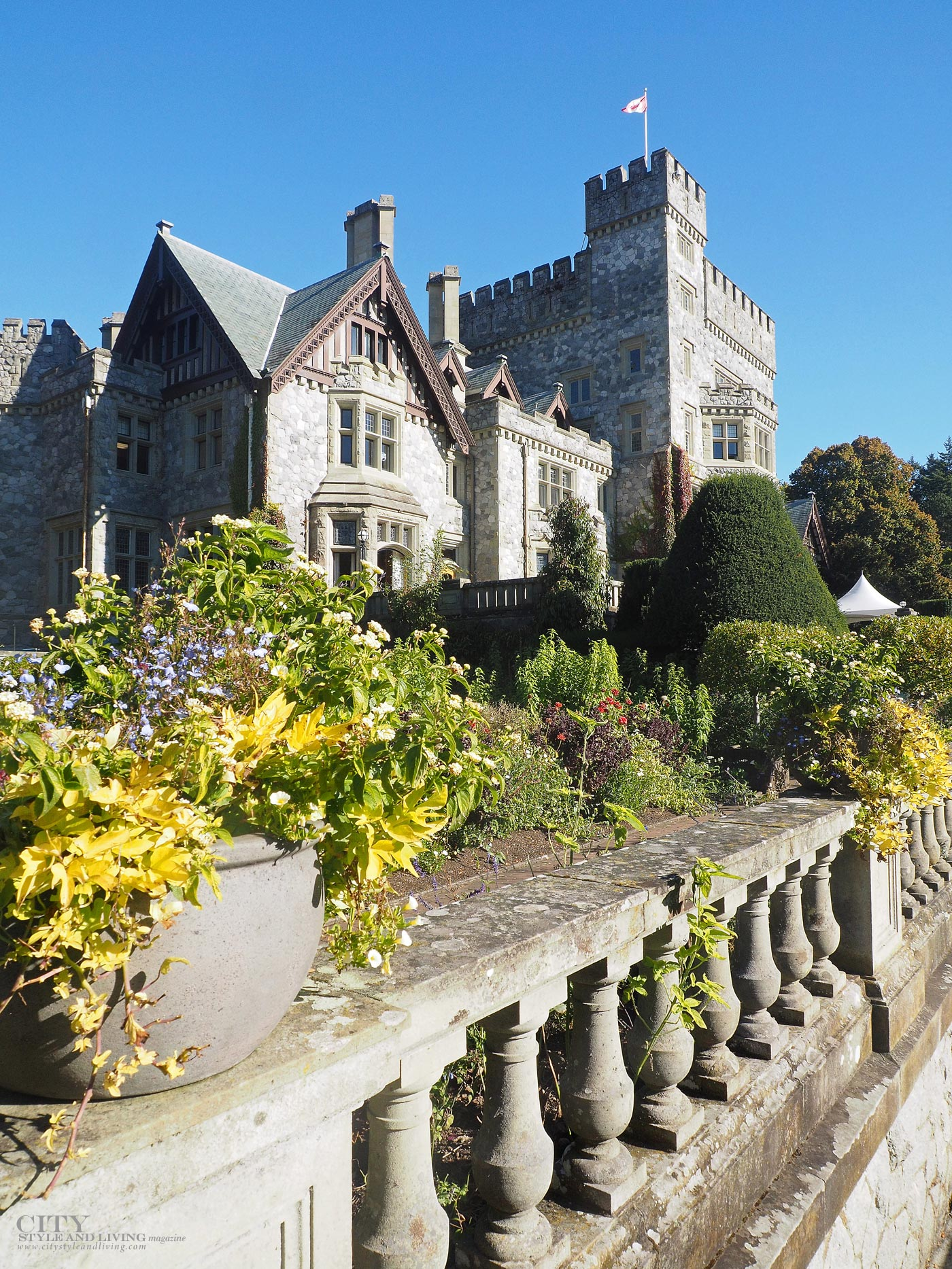 City Style and Living Magazine at Hatley Castle Parks and gardens in victoria