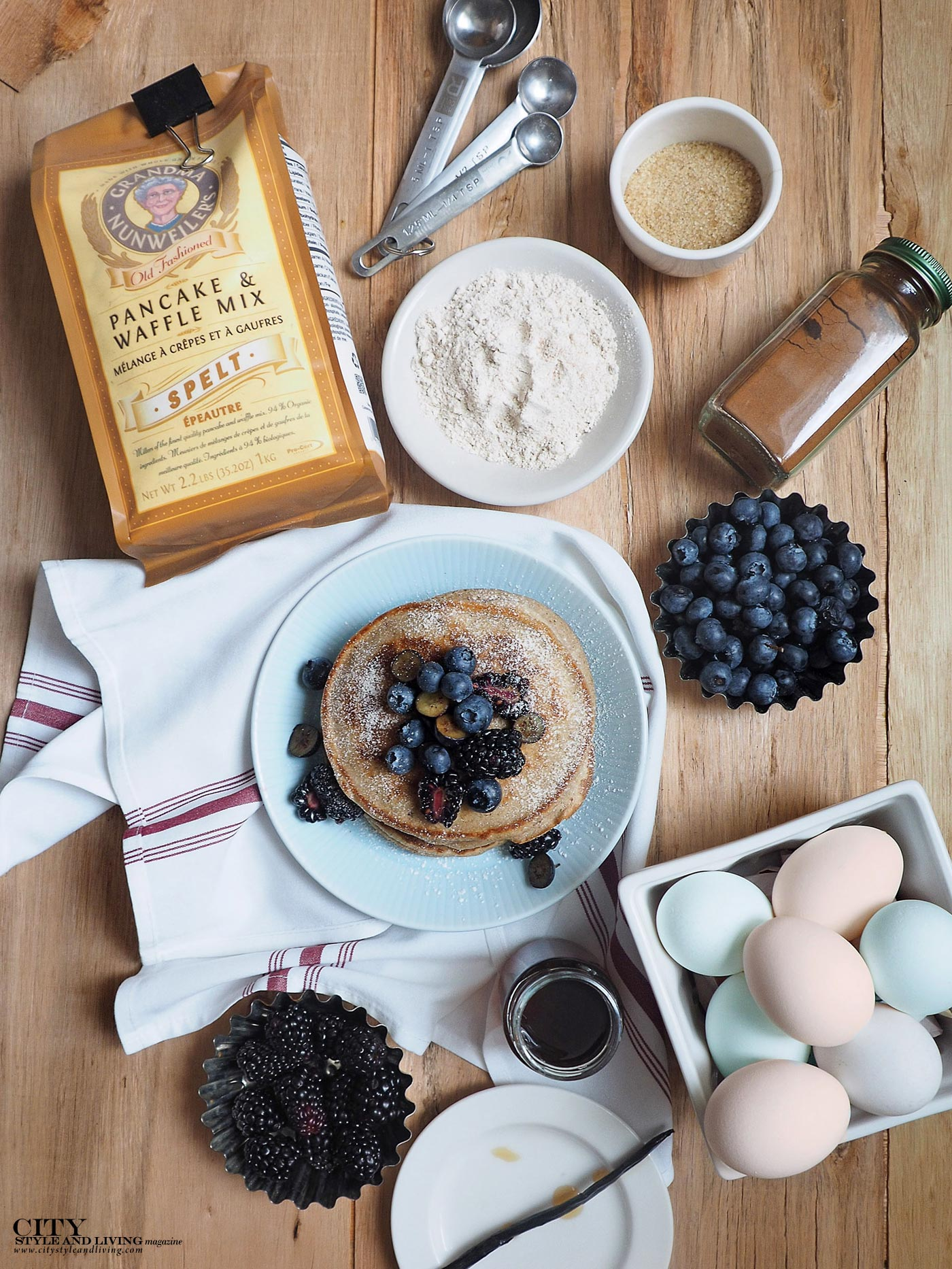City Style and Living Magazine Nunweilers Pancake Mix recipe and 1769 Distillery ingredients
