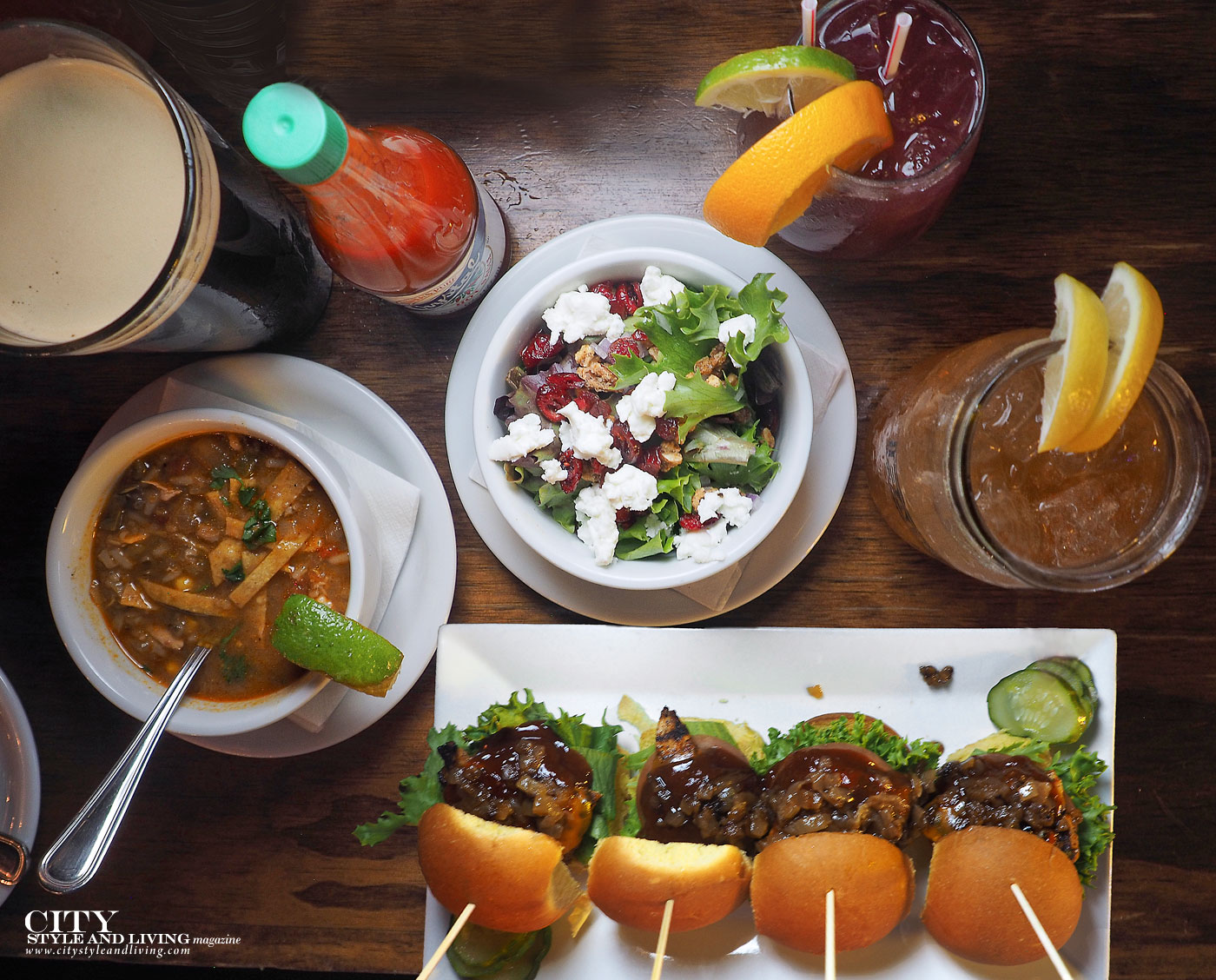 City Style and Living Magazine Barcadia New Orleans dinner burgers, salad, soup