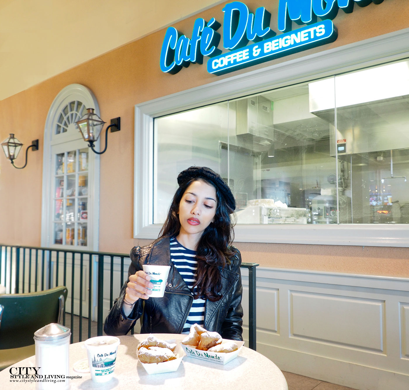 City Style and Living Magazine Cafe Du Monde beignets and chicory coffee new orleans
