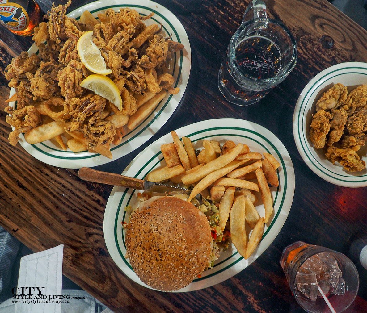 City Style and Living Magazine Cafe Maspero New Orleans dinner fried oysters and muffaletta sandwich