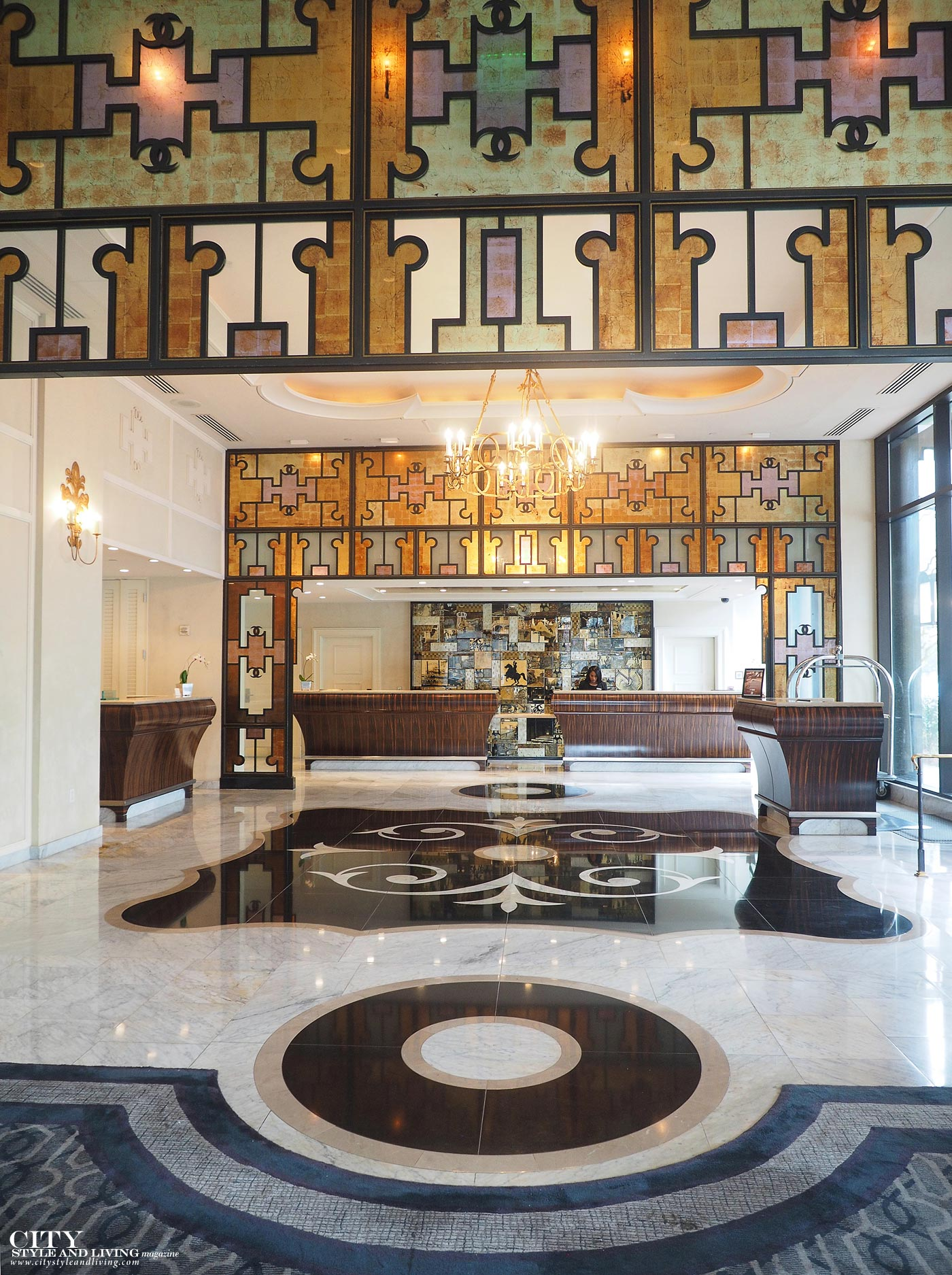 City Style and Living Magazine Loews New Orleans Lobby art deco