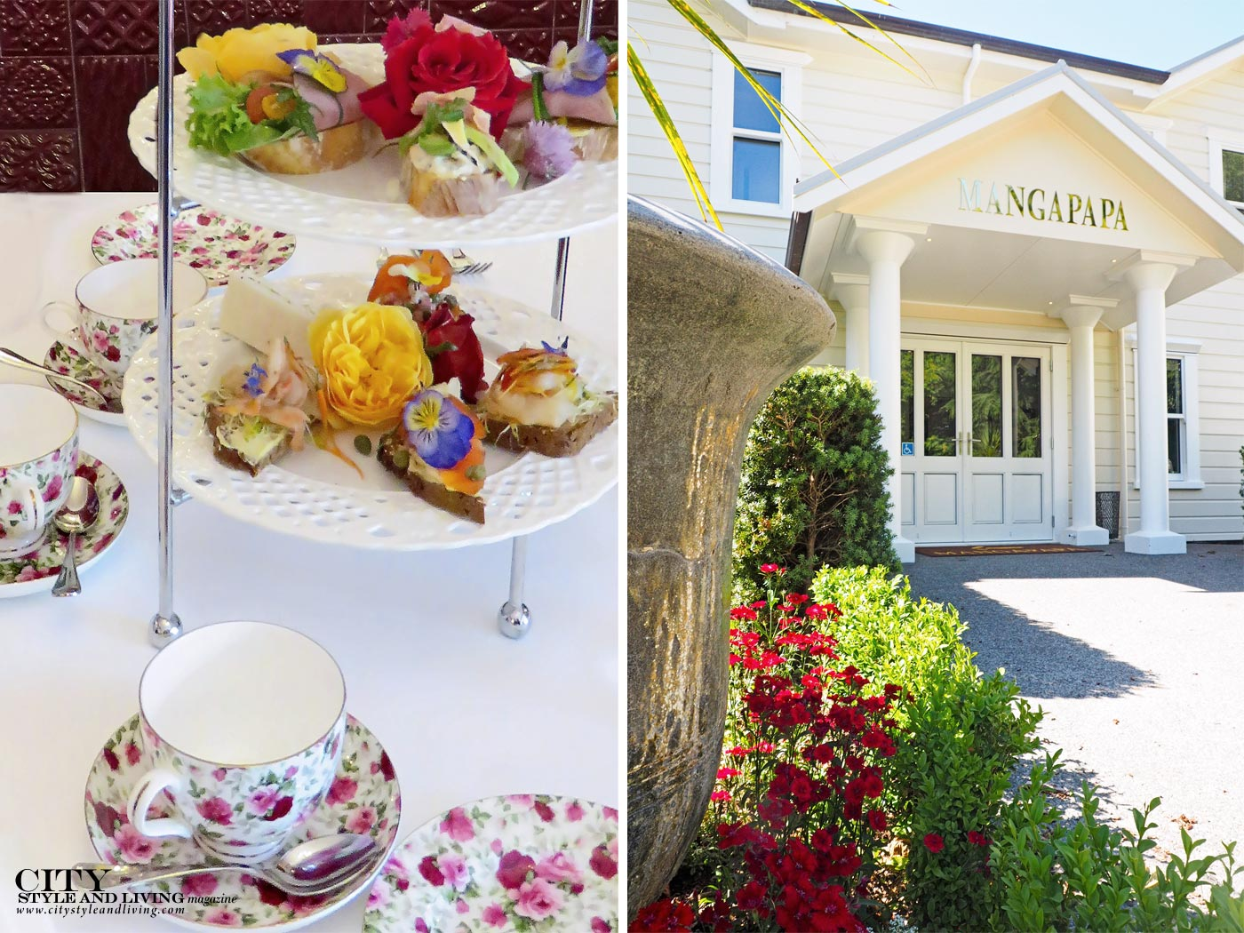 City Style and Living Magazine Mangapapa Hotel Napier New Zealand North Island High Tea, exterior of hotel