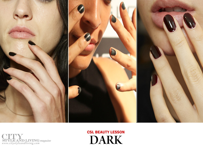 city style and living magazine nail trends spring 2017 dark
