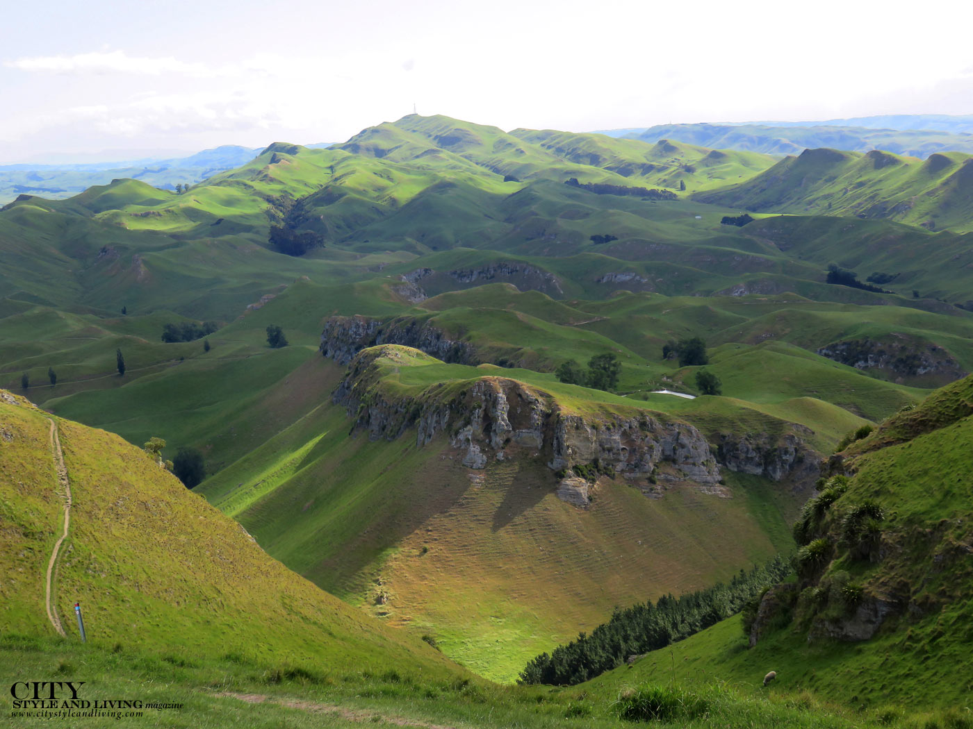City Style and Living Magazine Te Mata Mountain New Zealand panorama landscape