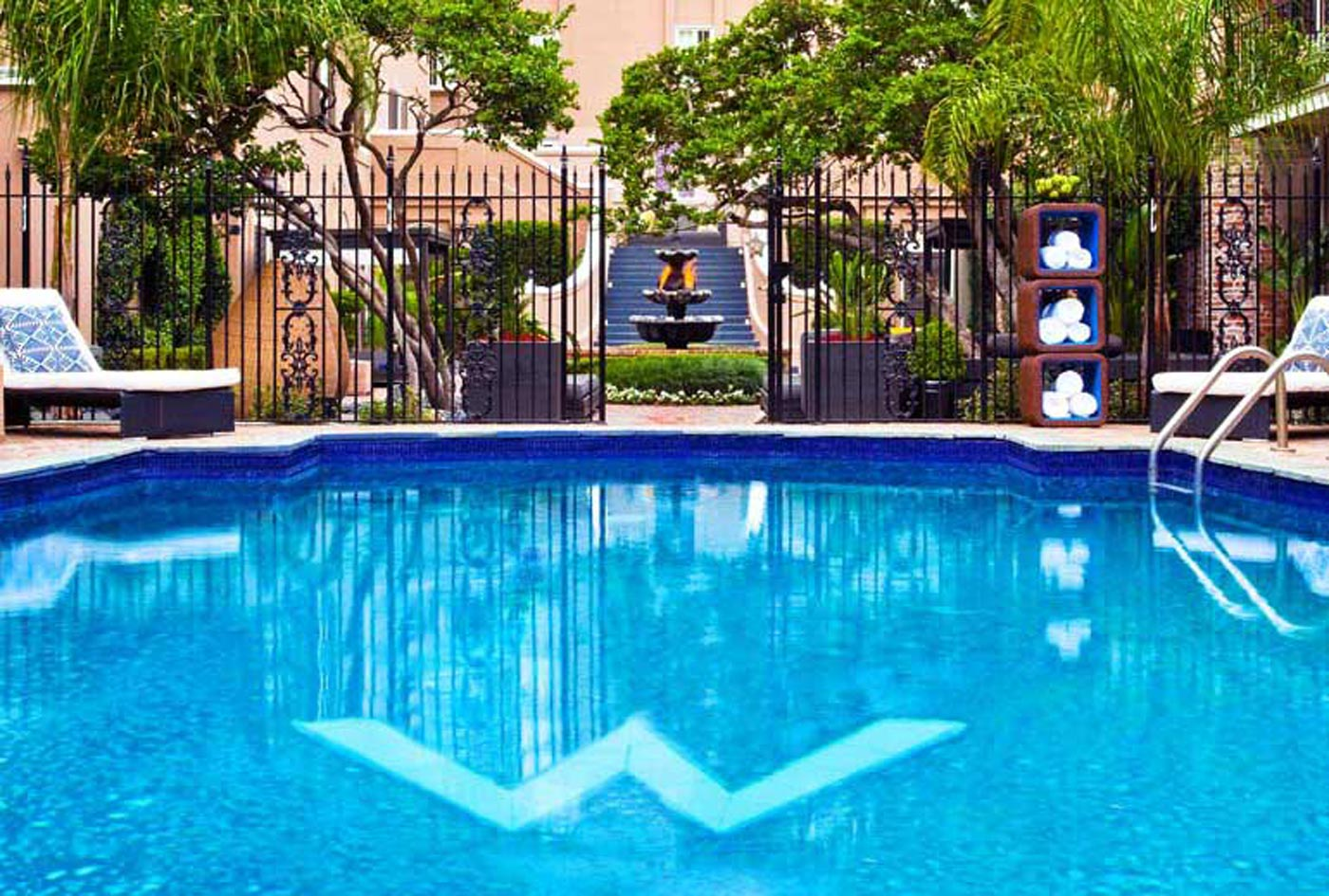 City Style and Living Magazine W Hotel New Orleans pool courtyard