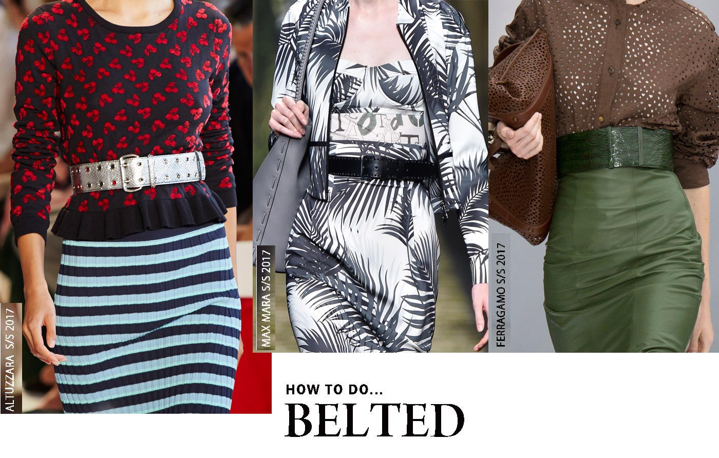 City Style and Living Magazine belted trends spring 2017