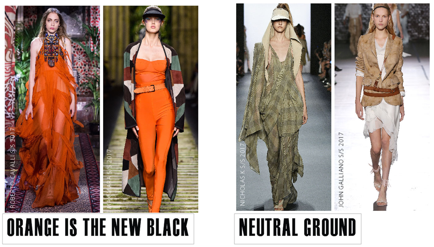 City Style and Living Magazine spring 2017 fashion trends colour orange and neutral