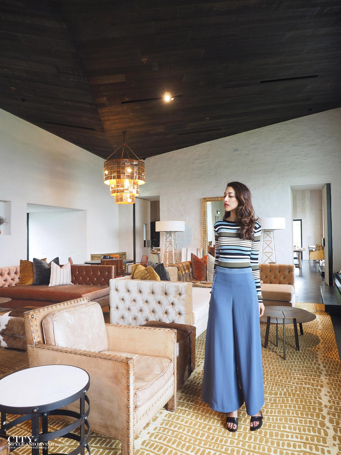 City style and living magazine Editors Notebook style fashion blogger Shivana M kinloch club clubhouse great room culottes and striped croptop