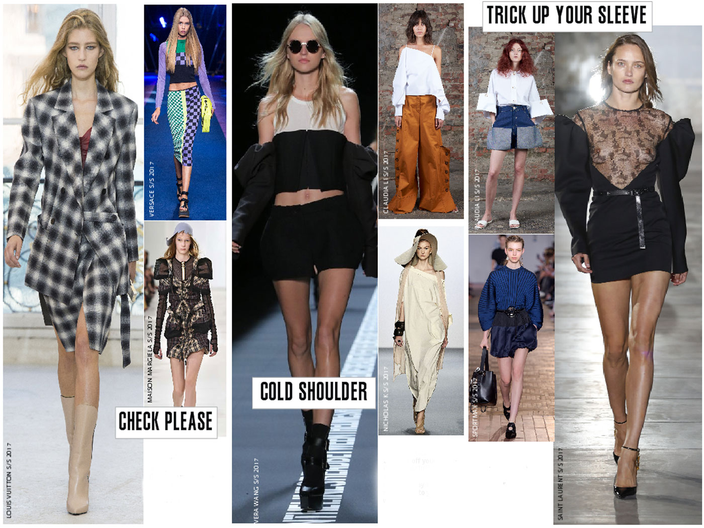 City Style and Living Magazine spring 2017 fashion trends check, cold shoulder and off shoulder top
