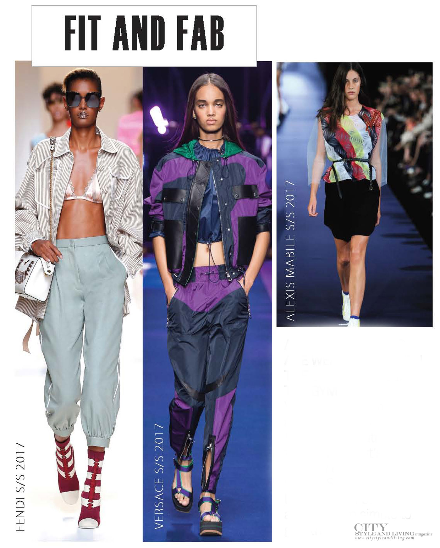 City Style and Living Magazine spring 2017 fashion trends fit sporty