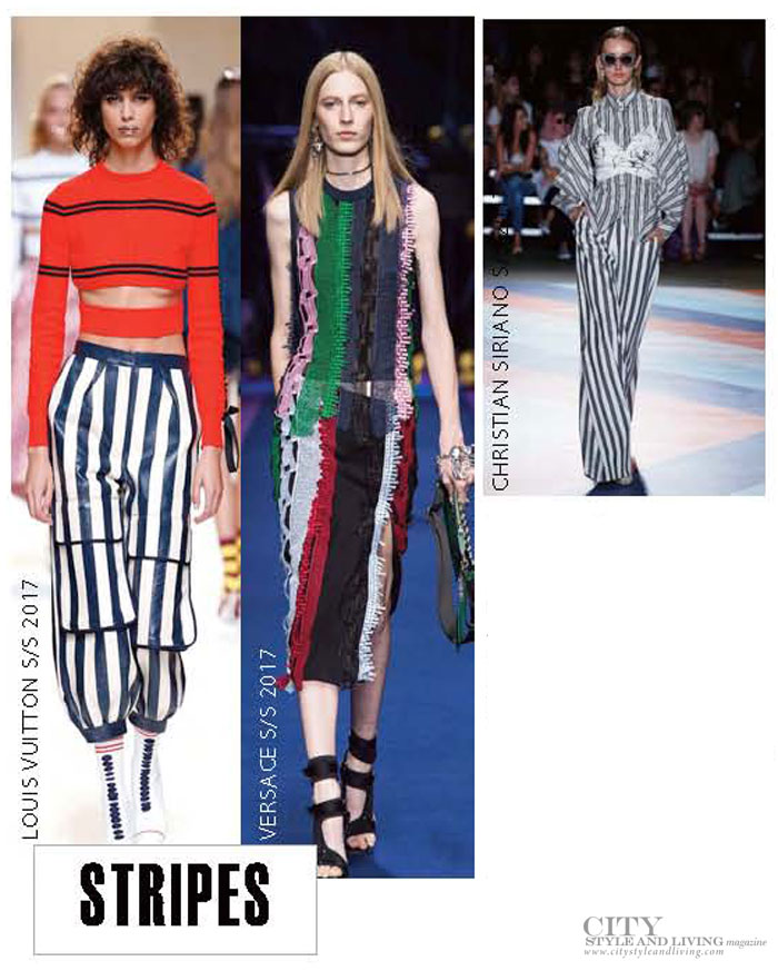 City Style and Living Magazine spring 2017 fashion trends Stripes
