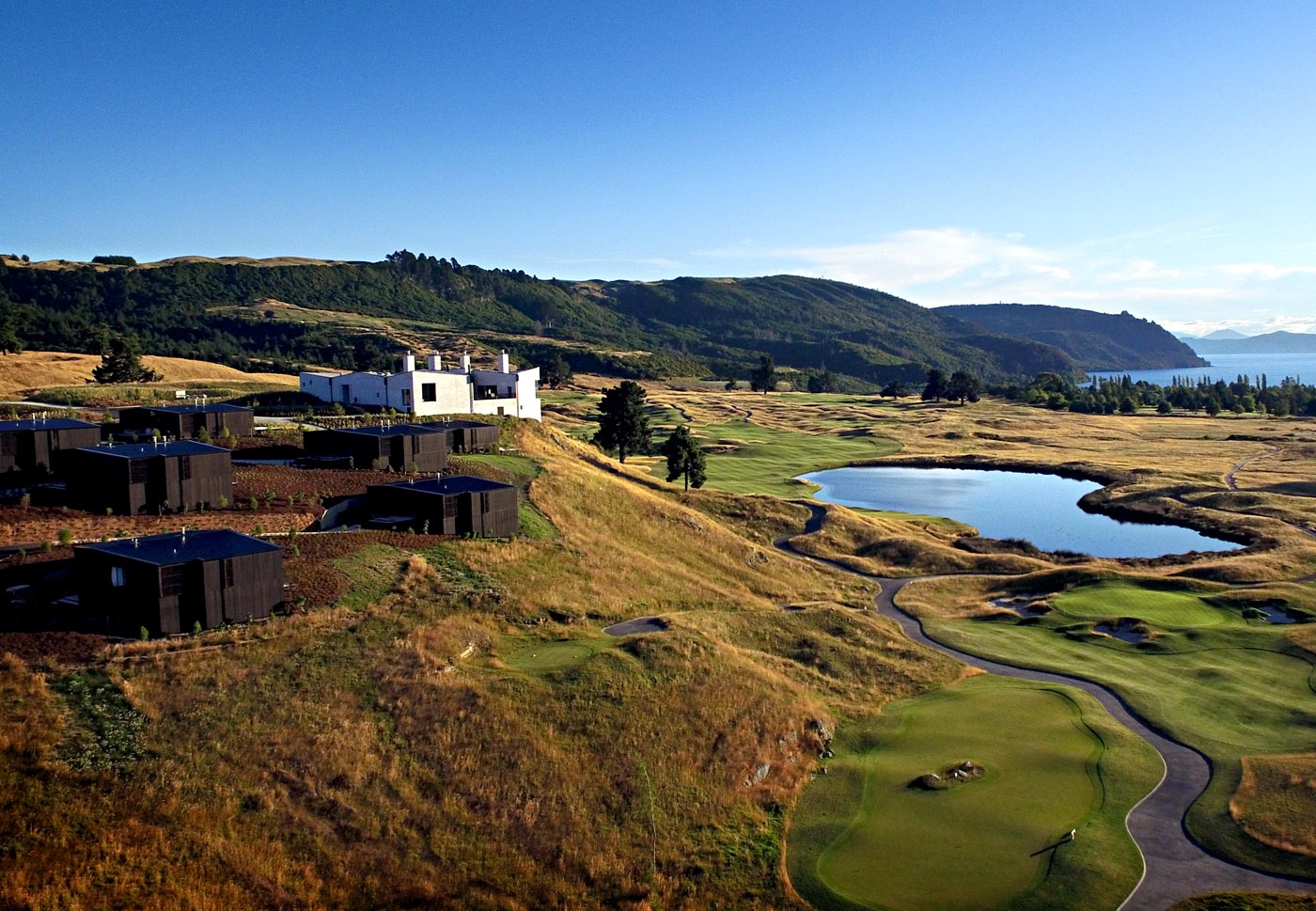 City Style and Living Magazine Luxury Hotel Kinloch Club New Zealand aerial landscape