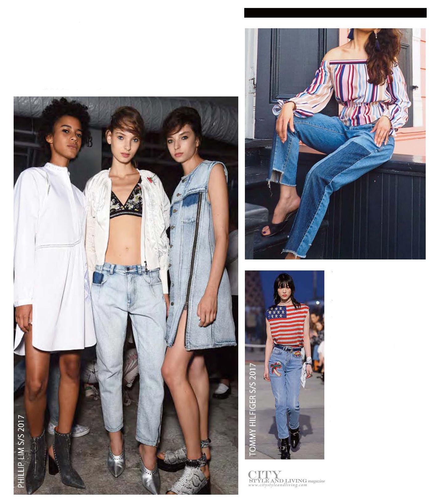 City Style and Living Magazine update your jeans spring 2017