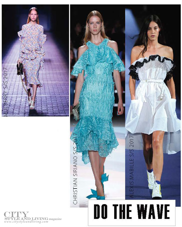 City Style and Living Magazine spring 2017 fashion trends ruffles