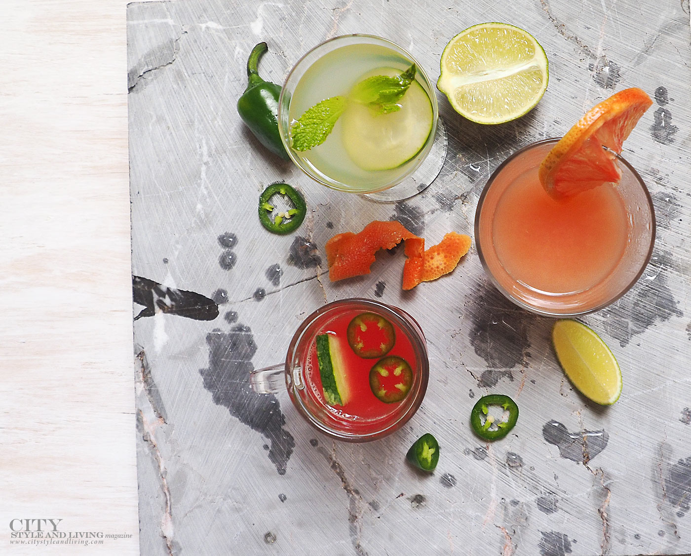 City Style and Living Magazine easy to make Canada 150 cocktails
