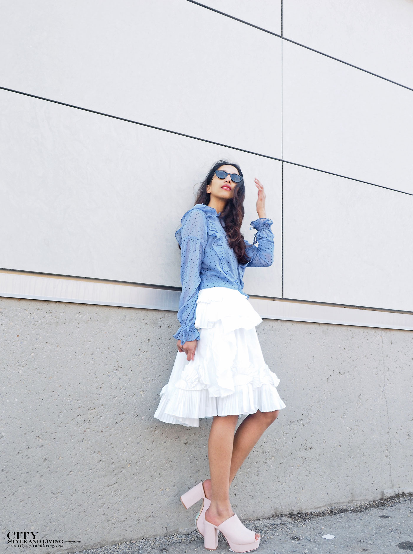 City style and living magazine The Editors Notebook style fashion blogger Shivana Maharaj how to wear frills for spring 2017 calgary
