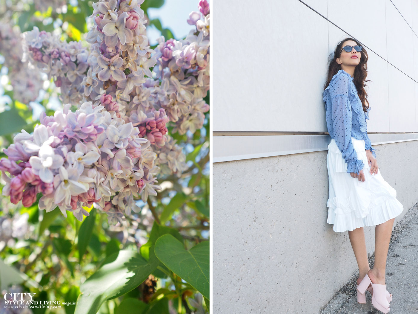 City style and living magazine The Editors Notebook style fashion blogger Shivana Maharaj how to wear frills for spring 2017 lilacs in calgary