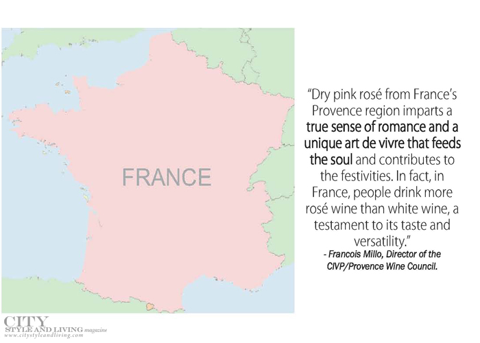 City Style and Living Magazine Rose from France and quote