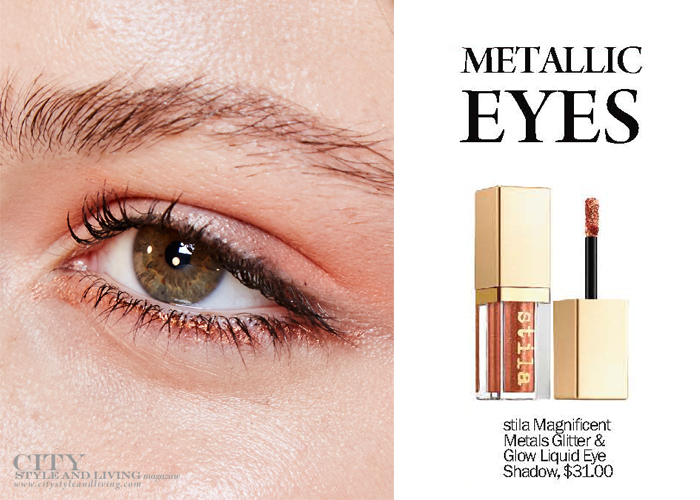 City Style and Living Magazine Summer 2017 beauty trends Metallic Eyes
