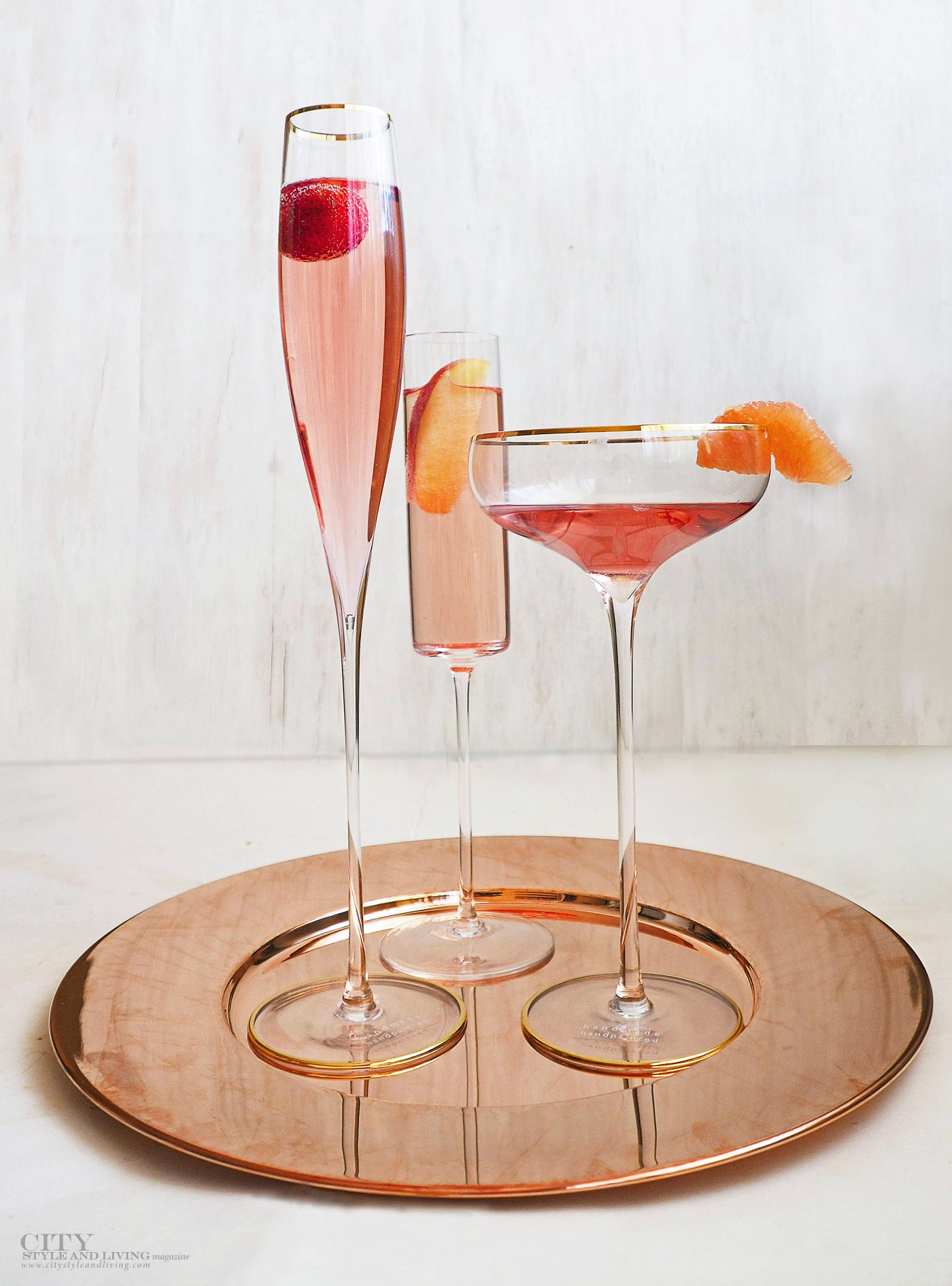 City Style and Living Magazine Rose glasses lsa international